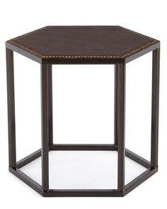 H8QZD Ralston Leather Side Table