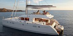 "Explore the wonders of Santorini aboard the ""Sunrise"" Lagoon 560 Catamaran Sail Yacht"