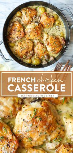 Yummy Chicken Recipes, Turkey Recipes, Great Recipes, Dinner Recipes, Casserole Recipes, Chicken Casserole, Food Dishes, Main Dishes, Comida Latina