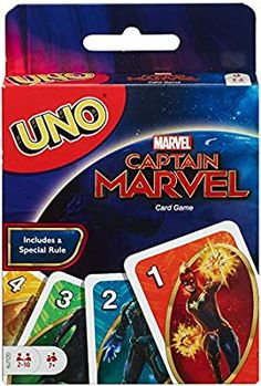Amazon.com: UNO: Captain Marvel - Card Game: Toys & Games Marvel Minimates, Marvel Kids, Captain Marvel, Uno Card Game, Uno Cards, Harry Potter Card Game, Dare Games, Family Card Games, Movies