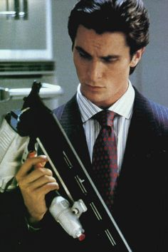 American Psycho, a strange yet captivating adaption of the novel by Bret Easton Ellis, also titled American Psycho. Christian Bale really outdid himself in this performance.