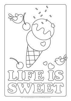 Style Me Gorgeous: Life Is Sweet - Free Coloring Page