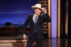 Conan Tries On The Audience Member's Ten Gallon Hat