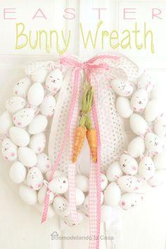Remodelando la Casa: Easter Bunny Wreath#more