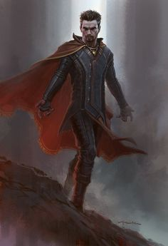 Conceptual artist Andy Park has just shared a new piece of early concept art for Marvel& Doctor Strange, featuring a very different costume design from the one we saw in theaters. Marvel Concept Art, Marvel Art, Marvel Heroes, Captain Marvel, Thor Ragnarok Concept Art, Dc Movies, Marvel Movies, Character Art, Character Design