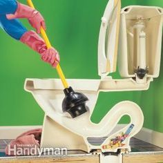 How to Fix a Clogged Toilet - The family handyman - Great site for how-to's!