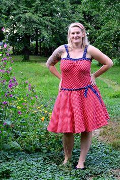 Petticoat Retrokleid nähen Anleitung freebook