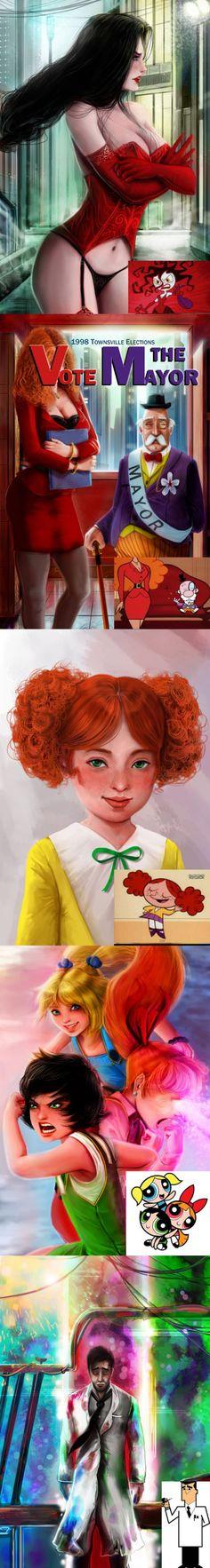 Powerpuff Girls- Realistic Character Artworks