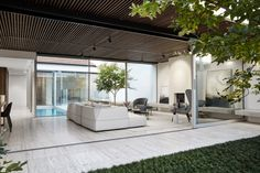 Local Australian Architecture And Interior Design Nolan House Designed By Coy Yiontis 13 Australian Interior Design, Interior Design Awards, Australian Architecture, Contemporary Interior, Interior Architecture, Australian Houses, Travertine Floors, House Extensions, Interior Exterior