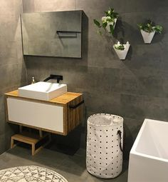 This bathroom features our Rush Wall Basin Mixer Set in matte black. To view more Phoenix products follow the link >>>> http://www.phoenixtapware.com.au/