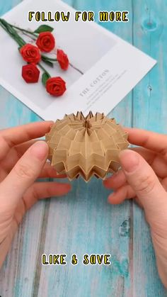 Diy Crafts Hacks, Diy Crafts For Gifts, Diy Arts And Crafts, Diy Projects, Creative Crafts, Foam Crafts, Diy Crafts Videos, Diy Videos, Instruções Origami