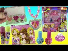 a240d54574 Disney Princess Carriage Makeup! Lip Gloss Eyeshadow Palette! FROZEN Anna  Elsa SET! SHOPKINS