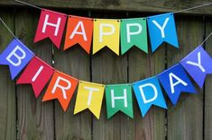 Happy Birthday Sign Discover Items similar to Happy Birthday Banner/Bunting - Choose Your Color Combination on Etsy Happy Birthday Banner/Bunting Choose Your Color by CoralLabrador Diy Birthday Card, Happy Birthday Ecard, Happy Birthday Bunting, Happy Birthday Signs, Rainbow Birthday Party, Diy Birthday Decorations, First Birthday Parties, First Birthdays, Birthday Cake