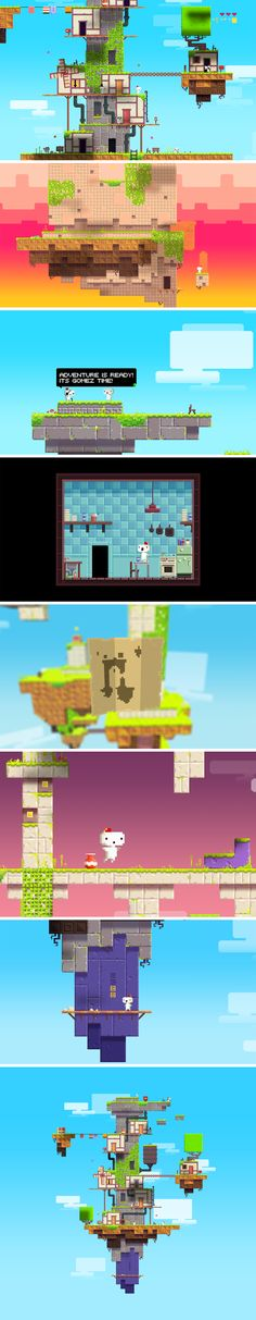 Fez stands for sexy pixel art. Pixel Art Background, Game Background, 2d Game Art, Video Game Art, Game Environment, Environment Design, Game Concept, Concept Art, Pixel Art Games