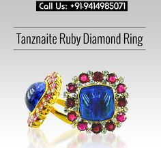 Tanznaite Ruby Diamond Ring