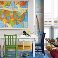 Find articles and inspiration on how to design and decorate a playroom. We'll help you choose your playroom theme, storage and organization, decor & more. Kids Craft Tables, Kids Play Table, Kid Table, Ikea Kids Chairs, Playroom Design, Playroom Ideas, My Home Design, Kid Spaces, Play Spaces