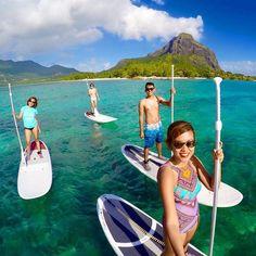 Stand Up Paddle at Paradis Hotel & Golf Club, Mauritius.  Photo by imleeeeeee