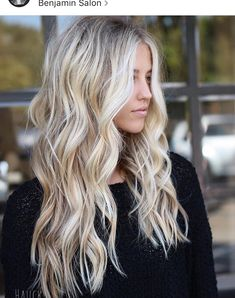 great Balayage hair for blond hair – Hair Ideas Brown Blonde Hair, Blonde Balayage Long Hair, Long Blond Hair, Blonde Hair Goals, Curl Long Hair, Blonde Hair Highlights, Blonde Hair Colors, Winter Blonde Hair, Blonde Balyage