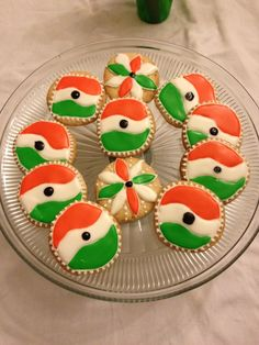 Indian Independence Day cookies. This is a Indian flag