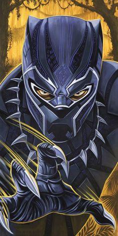 Black Panther King, Black Panther Marvel, Black Panther Drawing, Marvel Art, Marvel Heroes, Black Panther Hd Wallpaper, Cubist Paintings, Joker Art, Marvel Comic Character