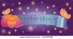 Set ribbon banner for Happy Easter. Ribbon banner with eggs and butterfly. Vector illustration.