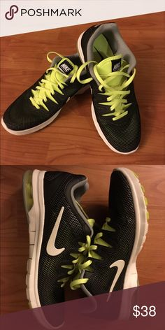 Nike Air Max Fusion Black and neon yellow/green. Very comfortable and only worn once. Nike Shoes Sneakers