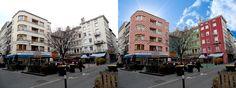 Retouches Urbaines. Place Grenette. Noémie BSG. Street View, Architecture, Places, Design, Graphic Design, Arquitetura, Architecture Design, Lugares
