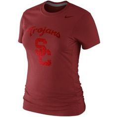 beb3cd63b80 Nike USC Trojans Ladies Foundation Slim Fit T-Shirt - Crimson Florida State  University