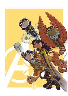 Dc Comics Vs Marvel, Chibi Marvel, Marvel Art, Baby Marvel, Baby Avengers, Spiderman, Avengers Cartoon, Baby Superhero, Doodle Characters