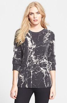 Equipment 'Sloane' Marble Print Crewneck Cashmere Sweater available at #Nordstrom