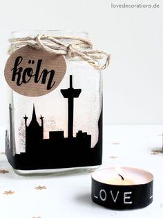 DIY Skyline Teelichtglas | DIY Skyline Jar