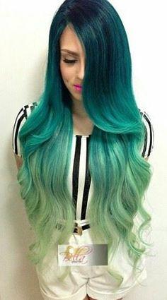 Degradado azul a verde
