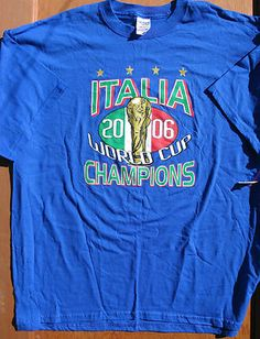 ITALY Italia 2006 World Cup CHAMPIONS t-shirt size 2XL *BNWOT Soccer EU FOOTBALL
