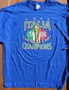 ITALY Italia 2006 World Cup CHAMPIONS t-shirt size 2XL *BNWOT Soccer EU FOOTBALL