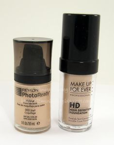 Revlon's Photo Ready Foundation, MUFE, Make Up For Ever HD Foundation, Dupe, --Cara recommended HD