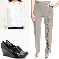 Top size 10 16 18 20 #5500 Trousers size 12 #5000 Next Wedge size 6/39 #16000 www.questworld.com.ng Pay on delivery in Lagos Nationwide Delivery