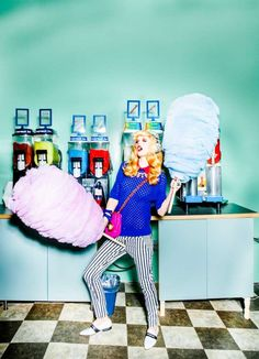 schon magazine  - This colorful and quirky fashion editorial for Schon Magazine features retro 80s fashion and goofy poses. Photographer Miguel Starcevich created th...
