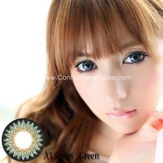 Cookie A3 Series - Green color circle lens. | Shop @ ContactLensHouse.com