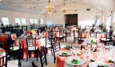 The Dairy Barn in Fort Mill, SC decorated for a gorgeous spring wedding.