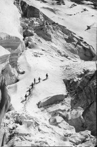 The Ascent of Mont Blanc – Auguste Rosalie Bisson. History Of Photography, Book Photography, Amazing Photography, Iconic Photos, French Photographers, All About Time, River, Pictures, Outdoor