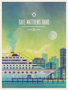 Dave Matthews Band, Graphic Design, creative, visual, inspiration