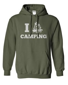 I Love Camping hoodie. #camping #outdoors