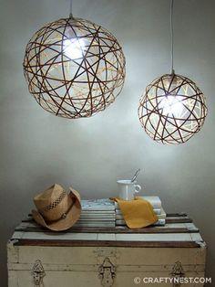 DIY lighting tutorial.  So cool!