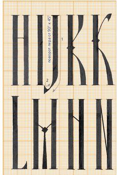 kaligrafia: h i j k l m n