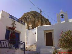 Cycladic church ,Chora ,Amorgos island. Greece
