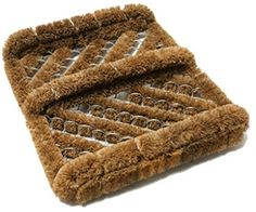 Simply shake, brush or vacuum for easy cleaning. Coir boot scraper brush removes dirt and mud from shoes. Shake, brush or vacuum shoe scrapers for easy cleaning. Coir fiber construction makes this boot mat a smart choice. Boot Brush, Black Stairs, Thing 1, Clean Shoes, Cool Boots, Vinyl Art, Herringbone, Fiber, Things To Sell