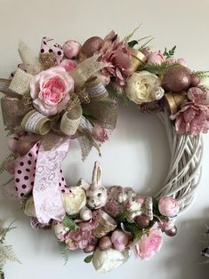 Unique Wreaths, Ornaments, Signs and Centerpieces by TapsikDesign Deco Mesh Wreaths, Fall Wreaths, Door Wreaths, Tulle Wreath, Floral Wreath, Felt Flowers, Pink Flowers, Unique Gifts For Women, Halloween Home Decor