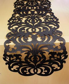 Laser Cut Filigree Black Felt Table Runner ($20-50) - Svpply
