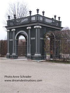 Part of the gardens, Schonbrunn Palace, Vienna Austria