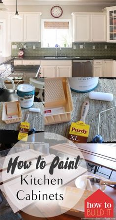 How to Paint Kitchen Cabinets, Kitchen Cabinet Remodel, Easy Kitchen Remodel, Easy Ways to Remodel Your Kitchen, Cheap Kitchen Remodel